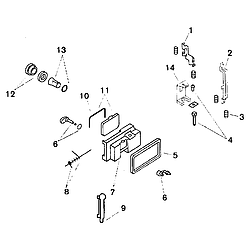 SMU7052UC14 Dishwasher Dispenser Parts diagram