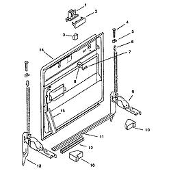 SMU7052UC14 Dishwasher Inner door Parts diagram