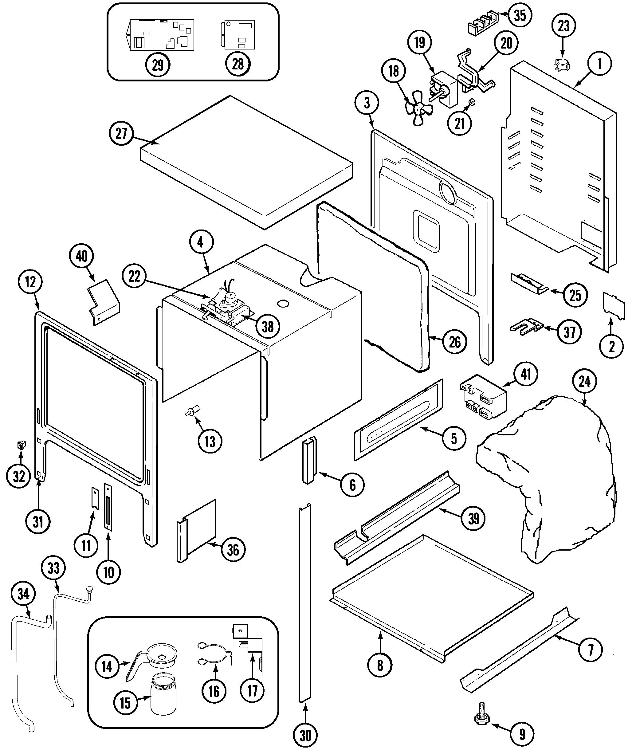 SVD48600B Gas/Electric Slide-In Range Body Parts diagram