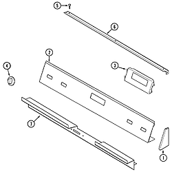 SVD48600B Gas/Electric Slide-In Range Control panel Parts diagram