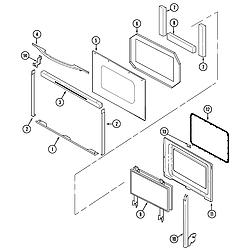 SVD48600B Gas/Electric Slide-In Range Door Parts diagram