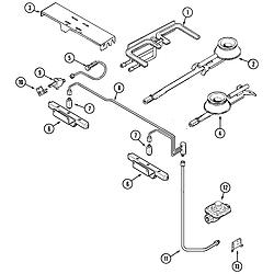 SVD48600B Gas/Electric Slide-In Range Gas controls Parts diagram