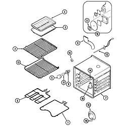 SVD48600B Gas/Electric Slide-In Range Oven Parts diagram
