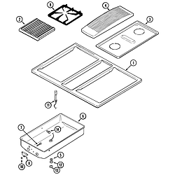 SVD48600B Gas/Electric Slide-In Range Top assembly Parts diagram