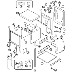 SVD48600P Gas/Electric Slide In Range Body Parts diagram