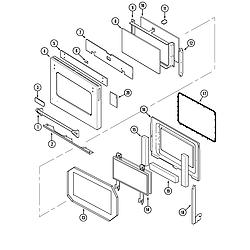 SVD48600P Gas/Electric Slide In Range Door Parts diagram