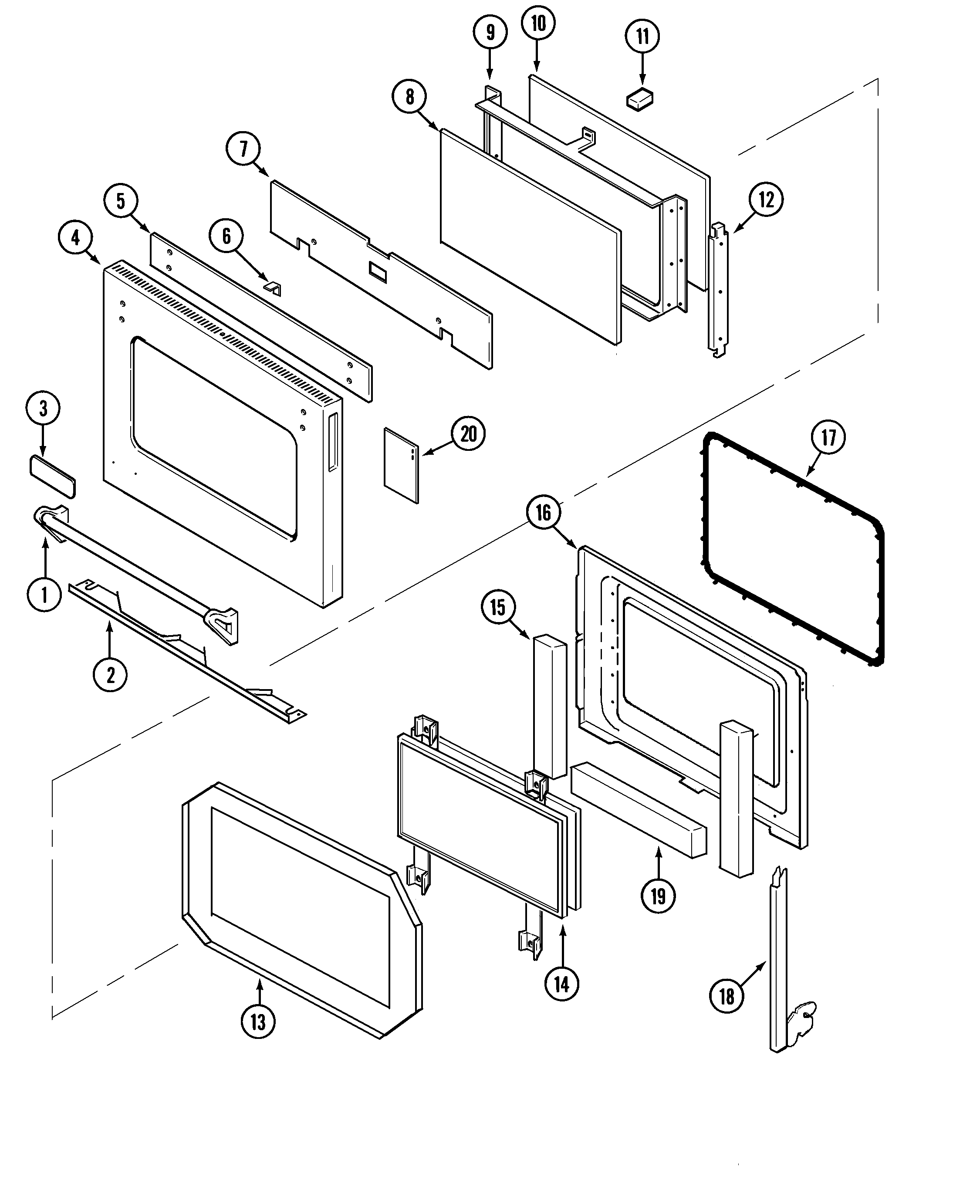 SVD48600P Gas/Electric Slide In Range Door Parts diagram. Wiring  information Parts diagram