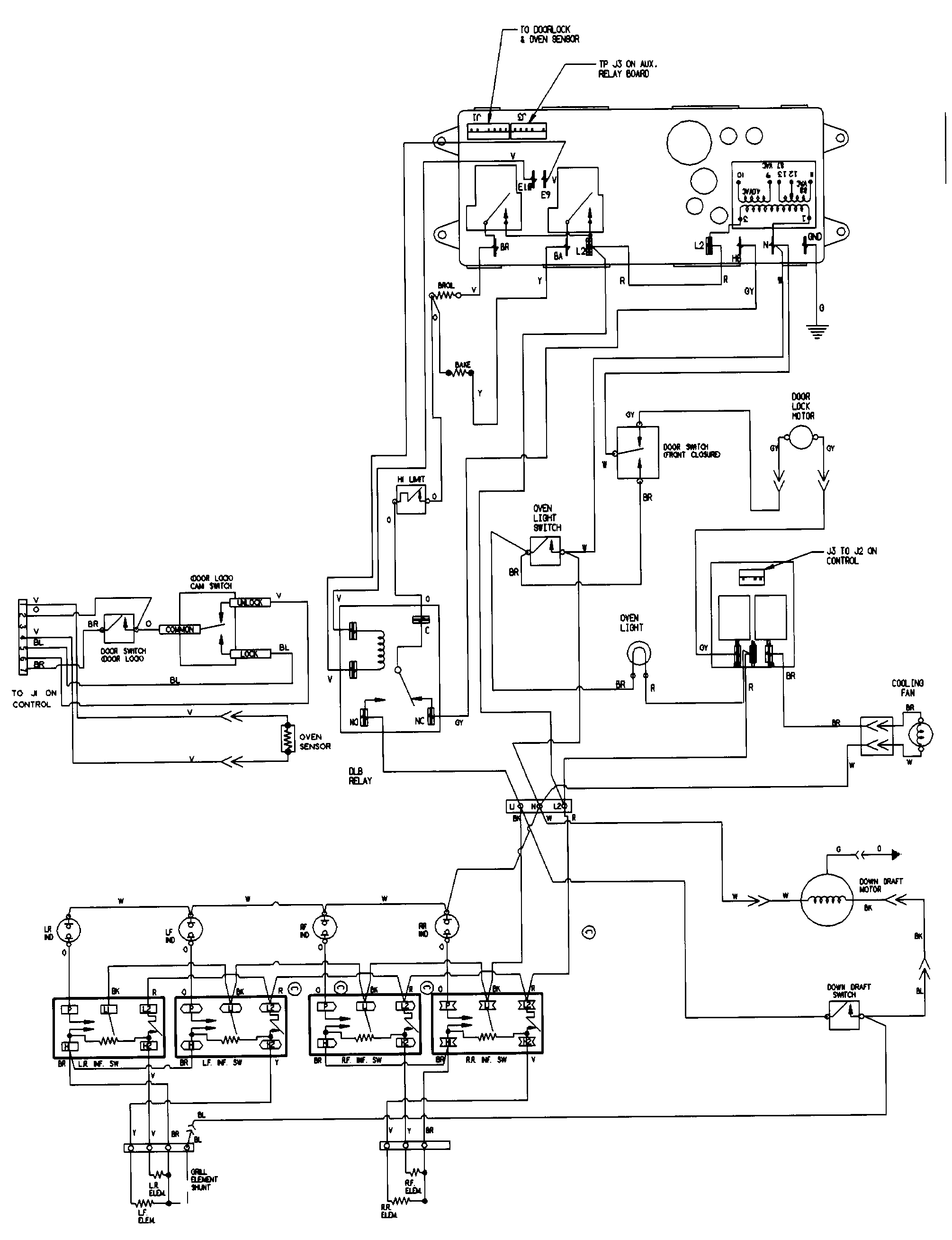 SVE47100W Electric Slide-In Range Wiring information (sve47100bc/wc) Parts  diagram