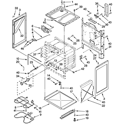 TES325MQ5 Free Standing - Electric Chassis Parts diagram