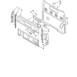 TES325MQ5 Free Standing - Electric Control panel Parts diagram
