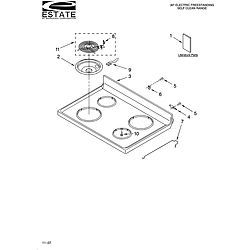 TES325MQ5 Free Standing - Electric Cooktop Parts diagram