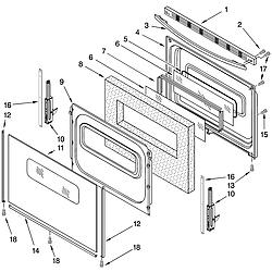TES325MQ5 Free Standing - Electric Door Parts diagram
