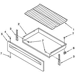 TES325MQ5 Free Standing - Electric Drawer & broiler Parts diagram