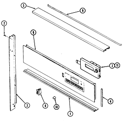 W131B Range Control panel Parts diagram