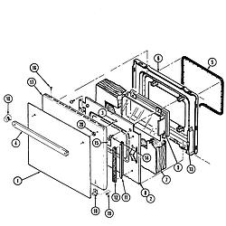W131B Range Door Parts diagram