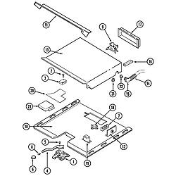 W131B Range Internal controls Parts diagram