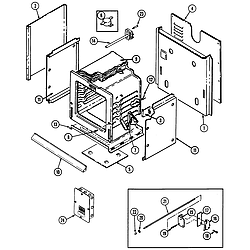 W131W Range Body Parts diagram