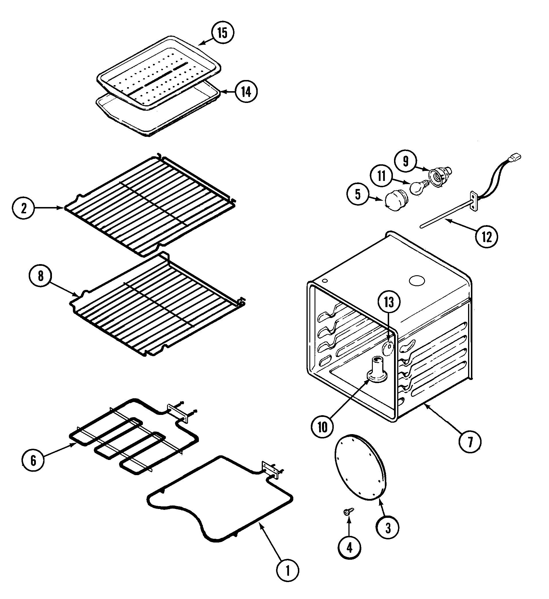 W27100B Electric Wall Oven Oven Parts diagram