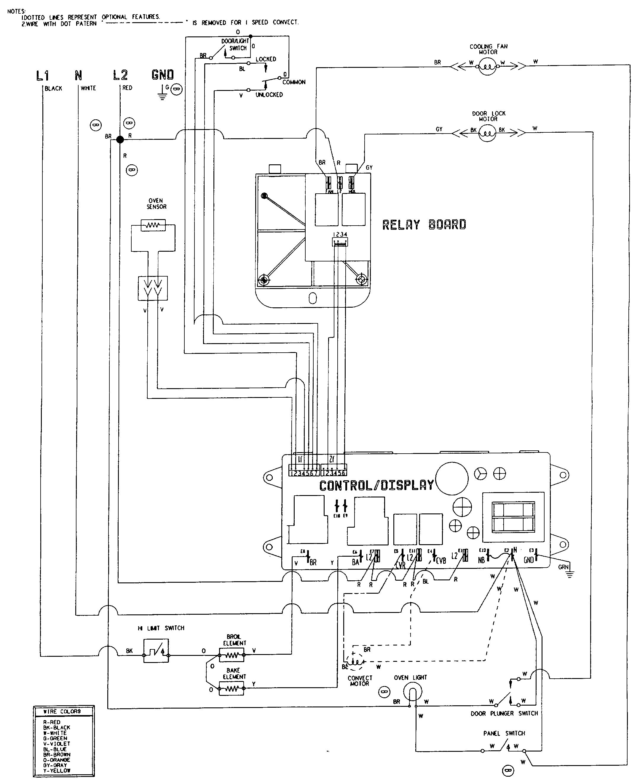 Wiring Diagram Electric Cooker : Jenn air w electric wall oven timer stove clocks