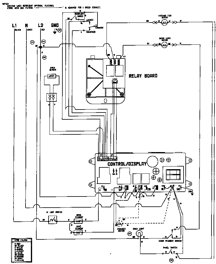 Wiring Diagram Electric Cooker : Jenn air w b electric wall oven timer stove clocks