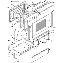 WHP54803 Free Standing - Electric Door and drawer Parts diagram