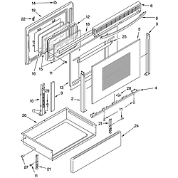 WLP85800 Free Standing - Electric Door and drawer Parts diagram