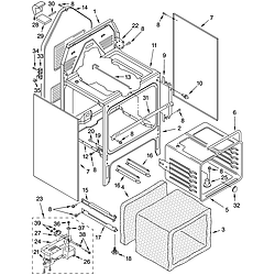WLP85800 Free Standing - Electric Oven chassis Parts diagram