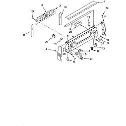 YKERC507HW0 Free Standing Electric Range Control panel Parts diagram