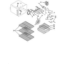 YKERC507HW0 Free Standing Electric Range Oven Parts diagram