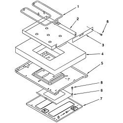 YKERS507HWO Free Standing Electric Range Hidden bake Parts diagram