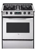 Amana ACS3350AW Slide-in Self Cleaning Gas Range