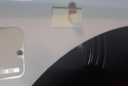 Removed dryer door switch